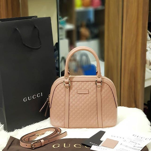 ccc6c3c687e BRAND NEW GUCCI GUCCISSIMA MINI DOME TWO WAY BAG