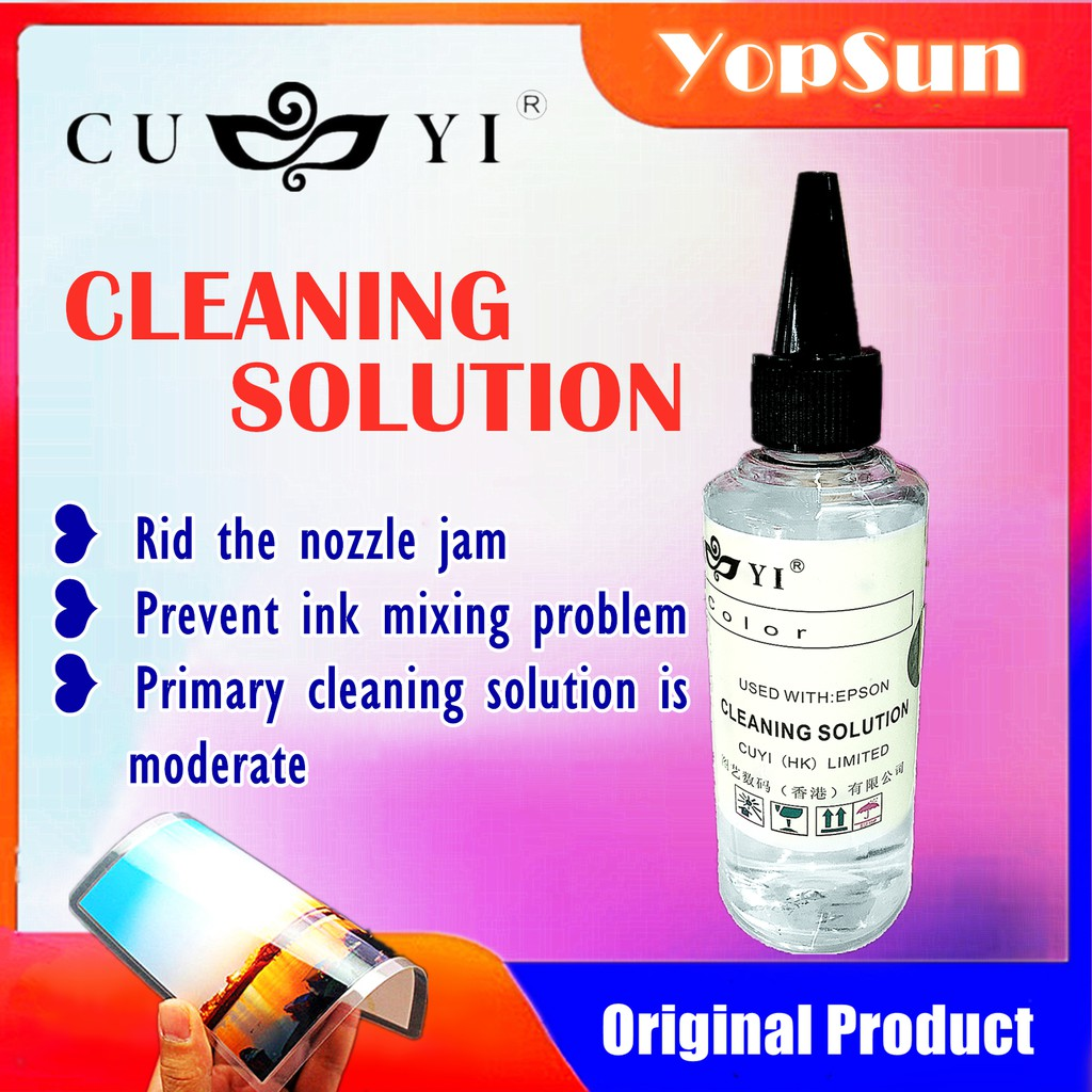CUYI CLEANING SOLUTION (100ML) FOR INKJET PRINTER