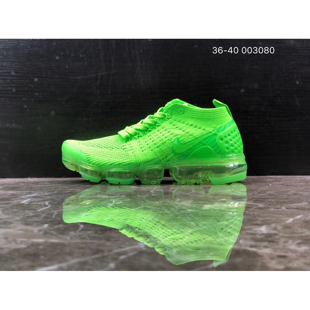 100% authentic 9b09b 30ef7 X-NIKE AIR Vapormax FLYKNIT 2 green running shoes