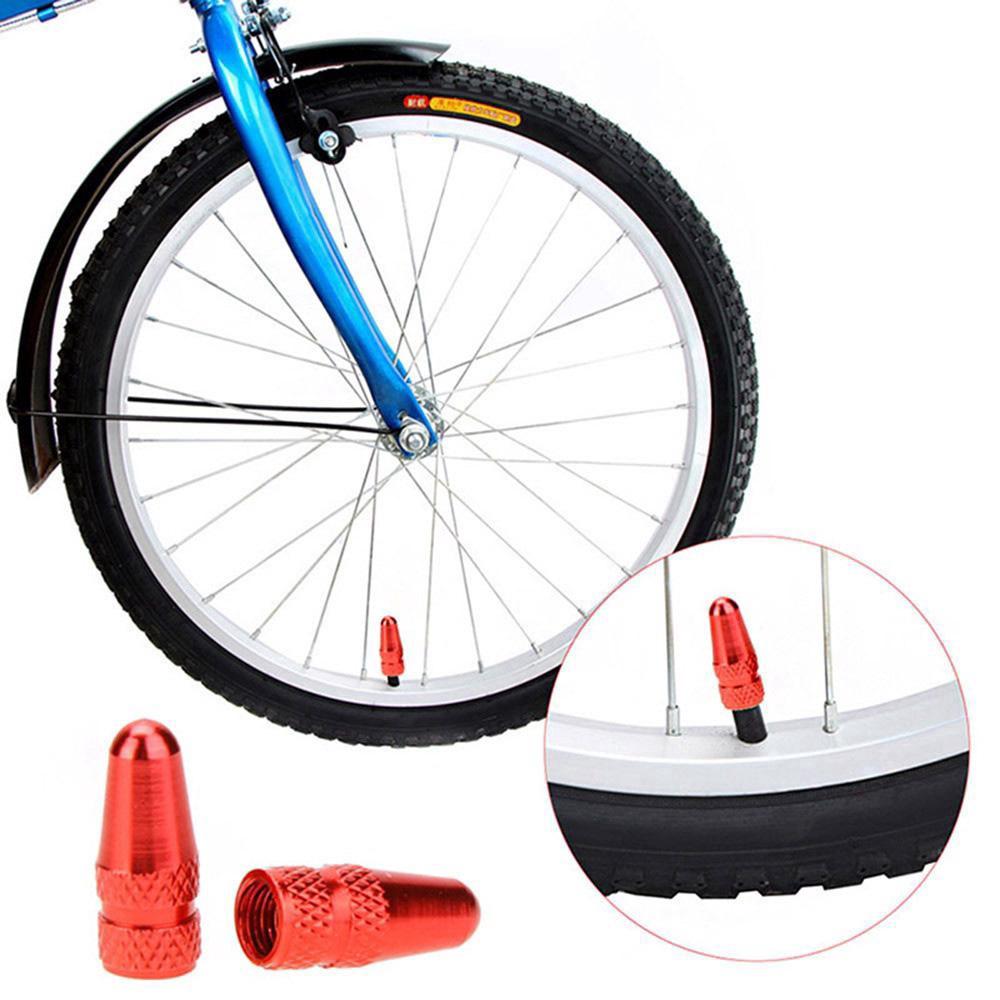 2Pcs Bike Schrader MTB Presta Wheel Rim Tyre Stem Air Valve Caps Dust Cover