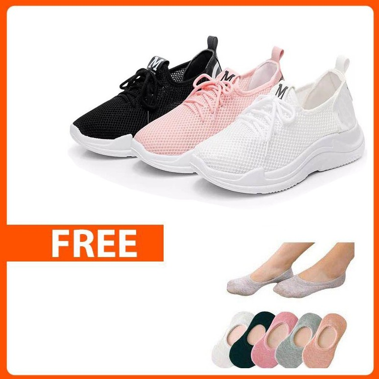 833445edc083 JY. Ladies Buy One M Fashion Low Cut Sneakers Free one Cotton Socks