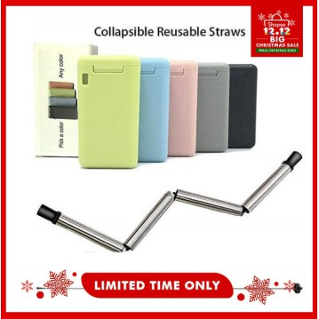 GBT COD Collapsible Straw Free Reusable Stainless Steel Travel Straw