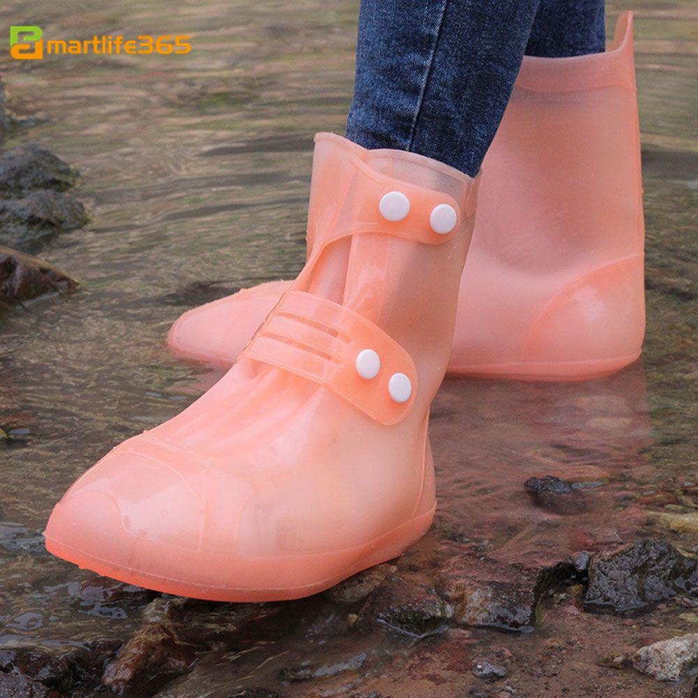 Unisex Waterproof Protector Shoes Boot Cover Rain PVC Shoe Covers Anti-Slip CF