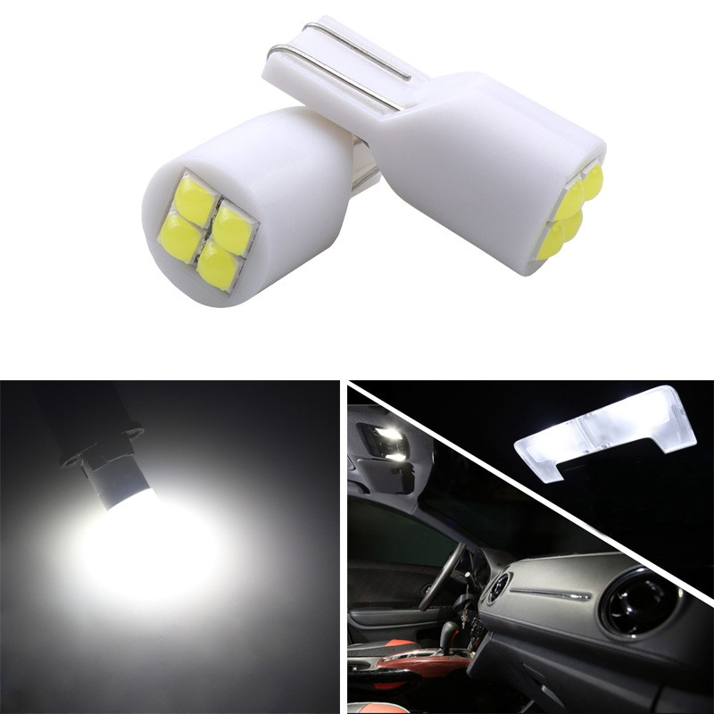 6000K White 555 501 558 2825 175 192 168 194 2 Pieces Turn Signal Side Bulb Dome Light Trunk Lights 12V Number Plate Position Lamps T10 W5W LED Bulbs with Canbus Parking Light