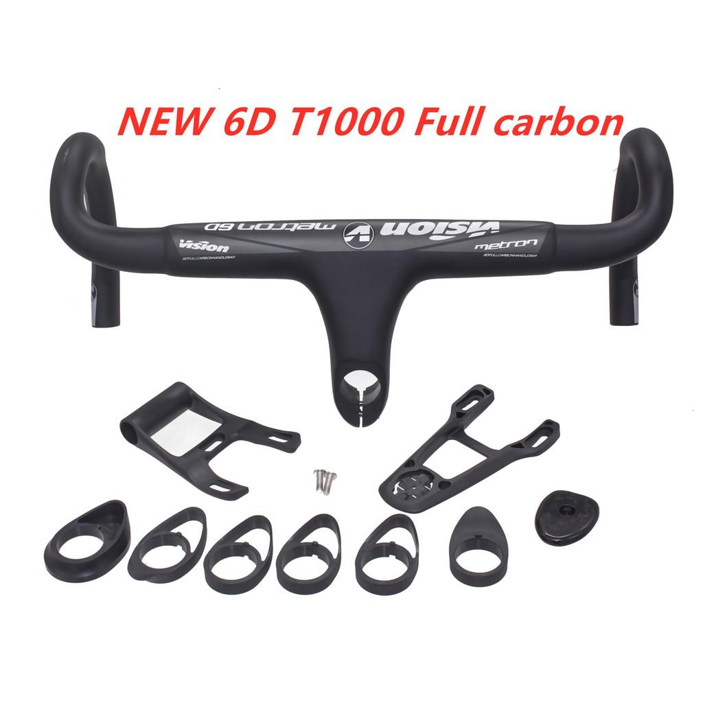 31.8mm Flat Riser Handlebar Bicycle Integrated Bar Stem Carbon MTB Bike 28.6mm