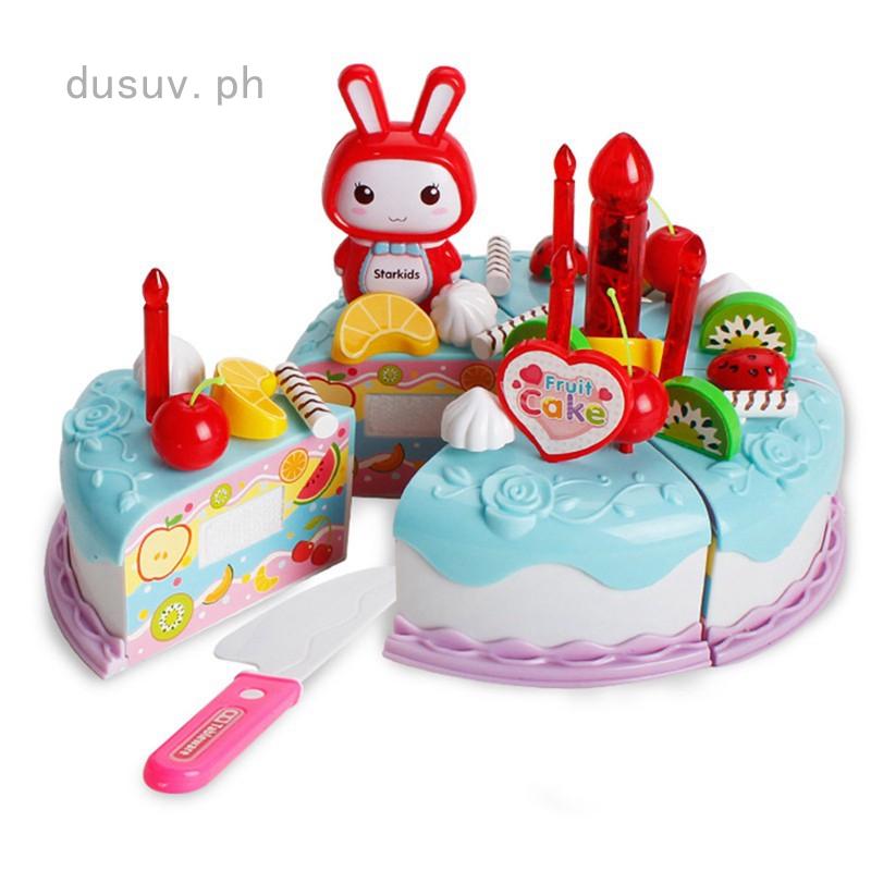 Fine Dusuv Children Pretend Role Play Kitchen Toy Happy Birthday Cake Personalised Birthday Cards Veneteletsinfo