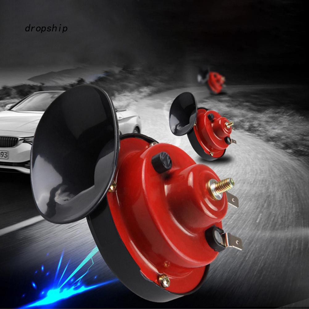 Pair of Dual-tone Loud Car Snail Air Horn 12V 135db Universal Snail Horn for Truck Car Boat Bike