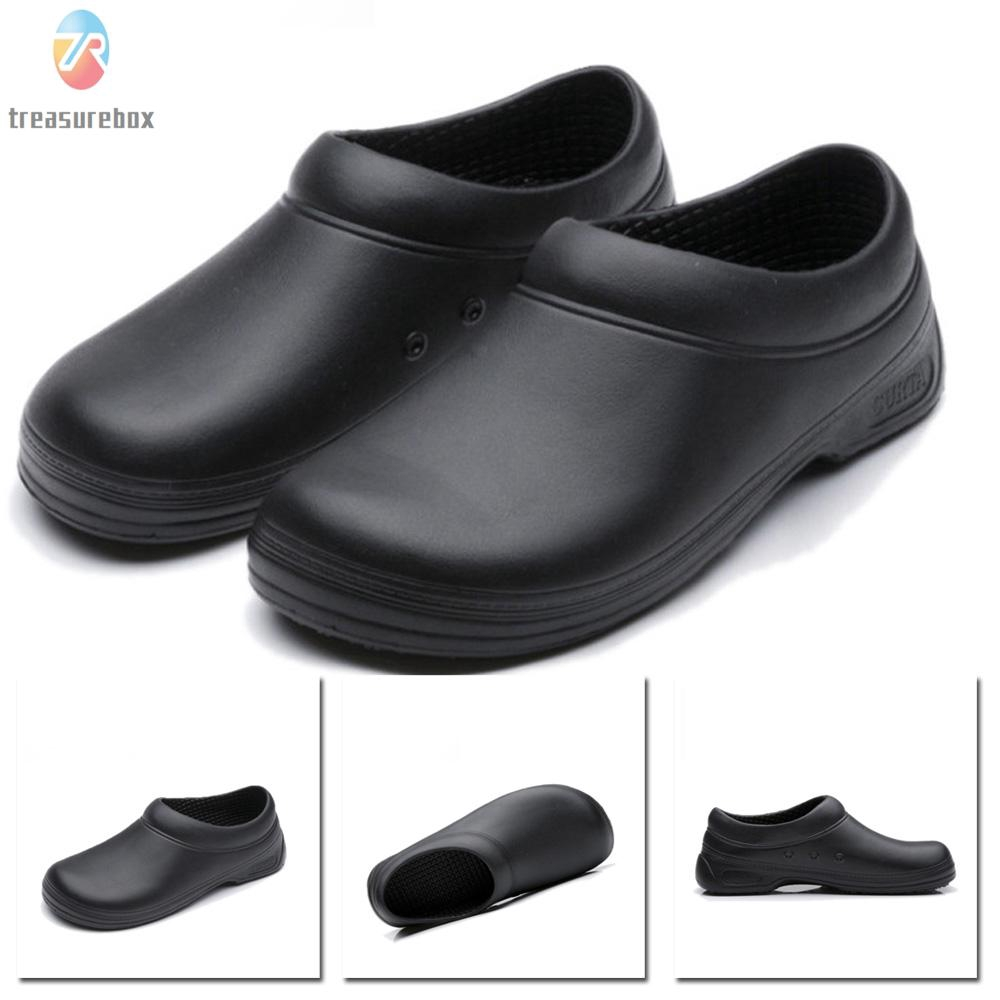 NEW Men Work Shoes Solid Color Loe Top Slip On Moccasins Comfy Chef Cook Loafers