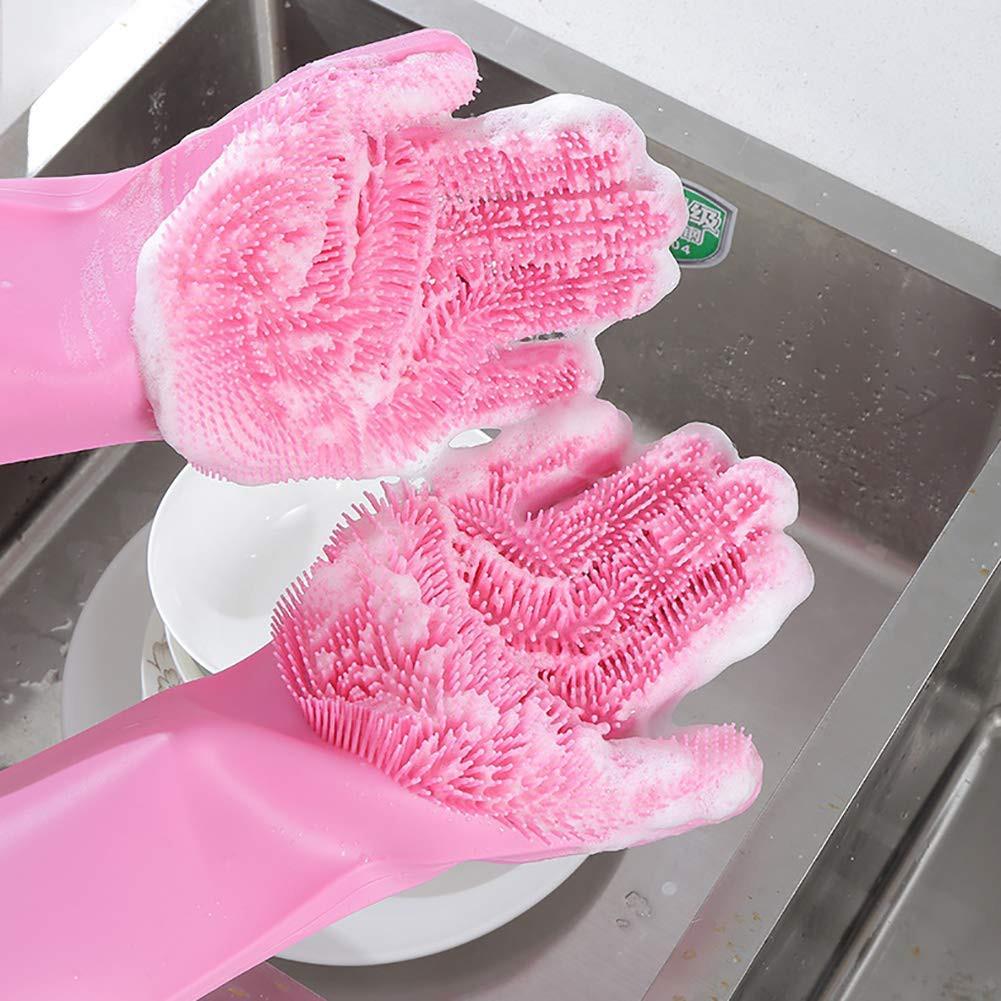 kitchen gloves Korean Dish Washing Gloves Magic Gloves Cleaning Gloves Silicone Gloves |  Shopee Philippines