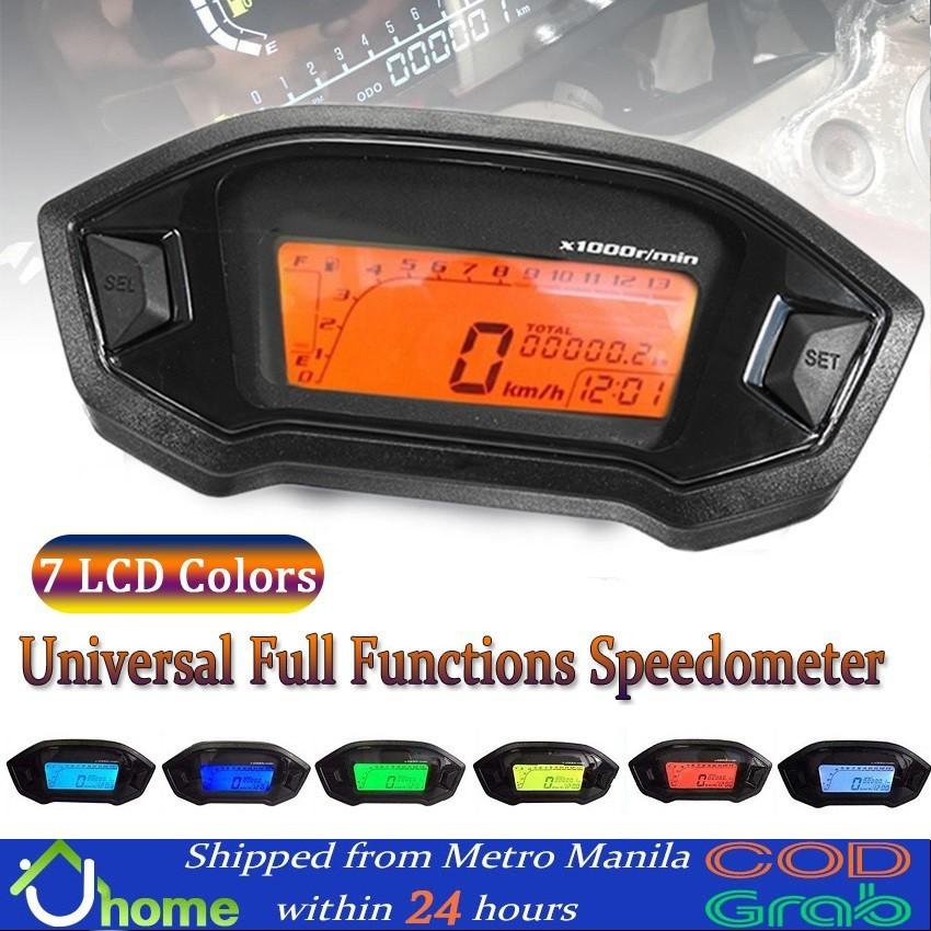 12v Universal Motorcycle Lcd Digital 13000rpm Speedometer