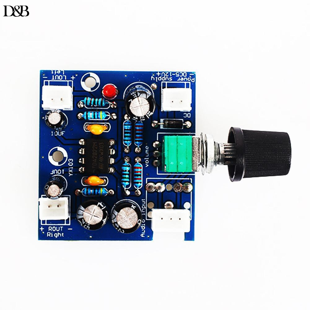 Audio Amplifier Board Dc Power Mp3 Mp4 Tda2822m Stereo Tda2822 Circuit Shopee Philippines