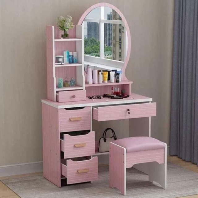 Vanity Mirror Dressing Table Bedroom Dresser Drawer Cabinet Shopee Philippines
