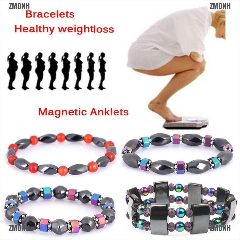 Weight Loss Multicolor Magnetic Bracelet Beads Hematite Stone for Therapy Health