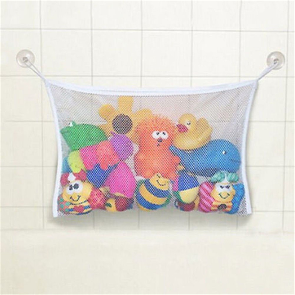 Baby Kid Bath Time Toy Hanging Storage Bag Mesh Bathroom Organizer Basket#Duck