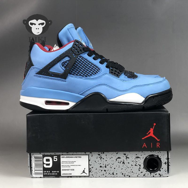 59c3550a9eb876 Nike Air Jordan 4 x Travis Scott AJ4 Blue Suede Joint Name