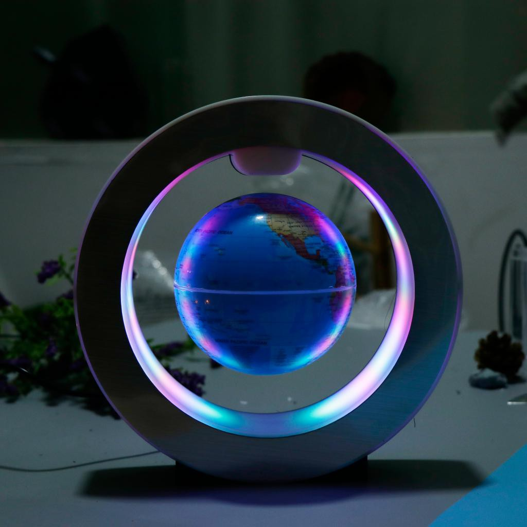 HOMYL1] novelty round world map floating globe magnetic levitation led  night light | Shopee Philippines