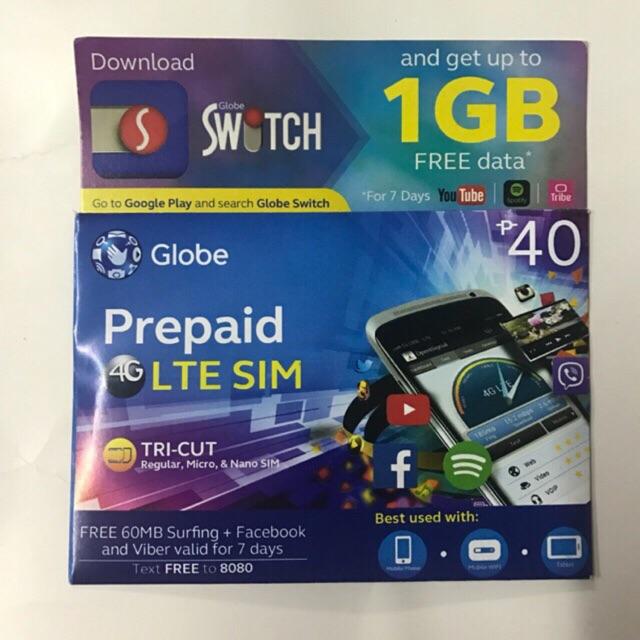 Globe Prepaid 4G LTE SIM card