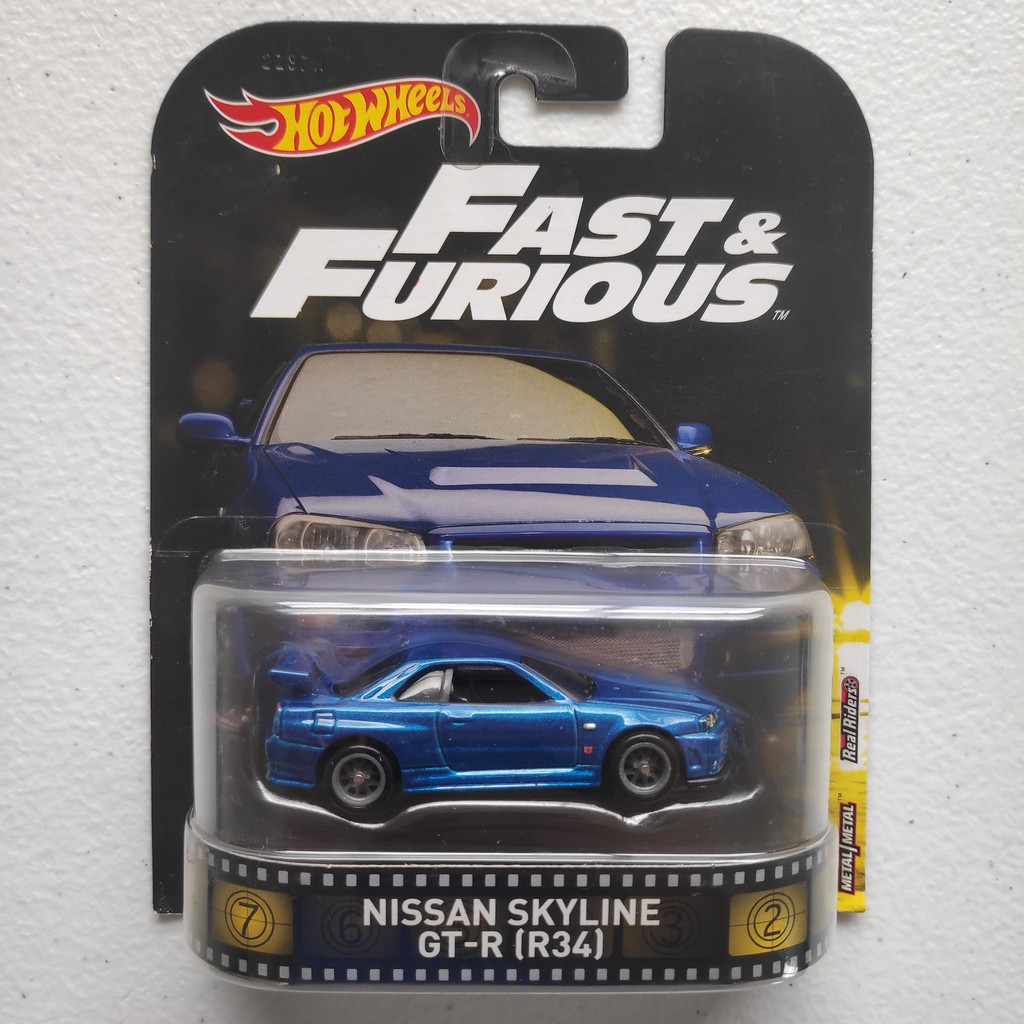 Nissan Skyline Gt R R34 Hot Wheels Movie Retro Fast Furious Shopee Philippines