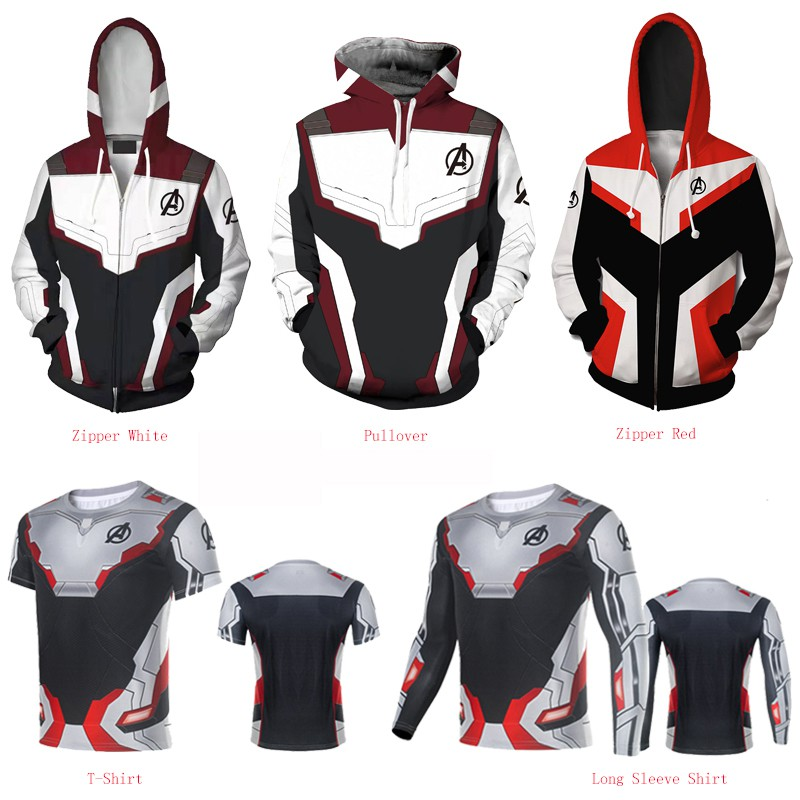 Newest The Avengers 4 Endgame Quantum Realm Hoodie Jacket