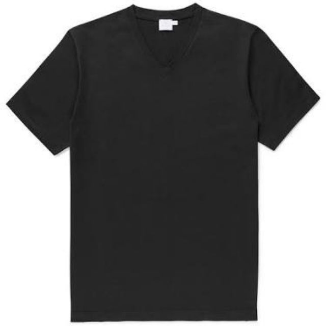 plain black shirt v neck