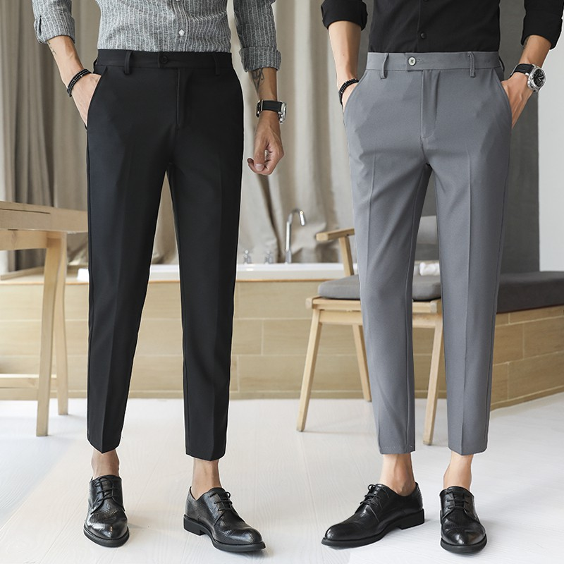 YUNY Mens Slim-Tapered Basic Style Spring Autumn Casual Pant 2 37