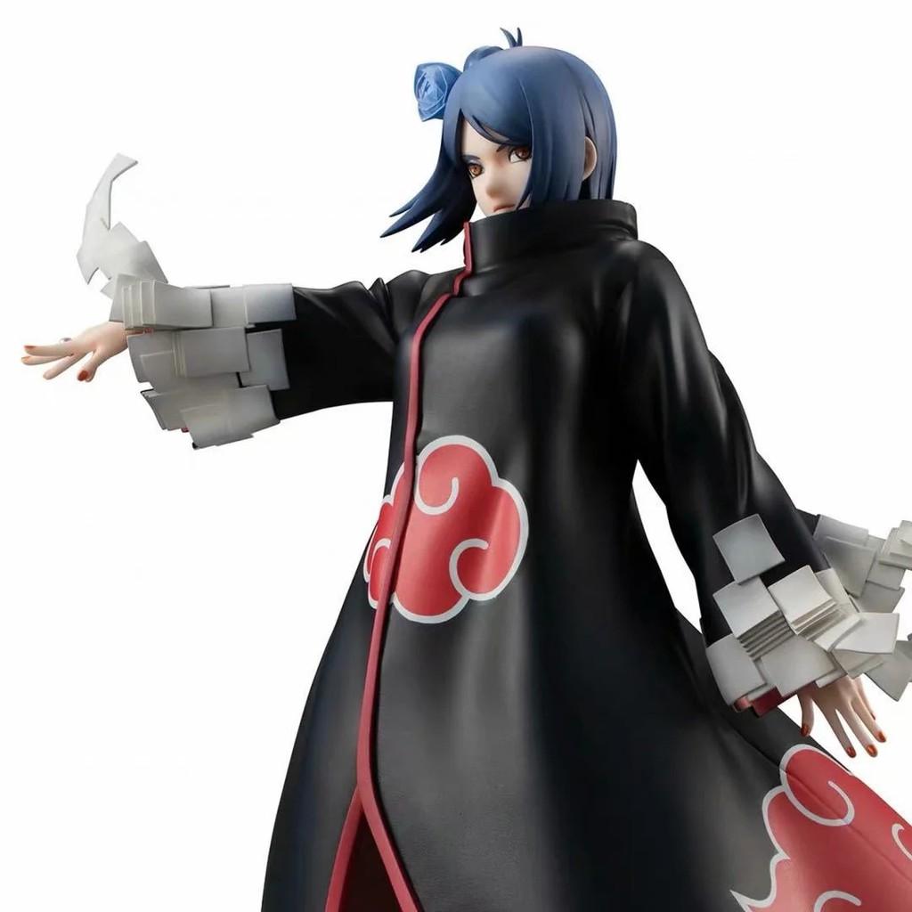 Akatsuki Konan Battle Ver 22cm Anime Naruto Shippuden PVC Figure Toy New NoBox