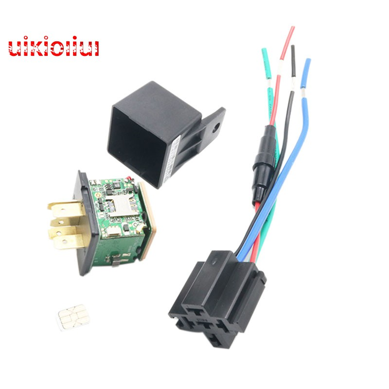 Car Tracking Relay Gps Tracker Device Gsm Locator Remote Control Anti-Theft  Monitoring Cut Off Oil P