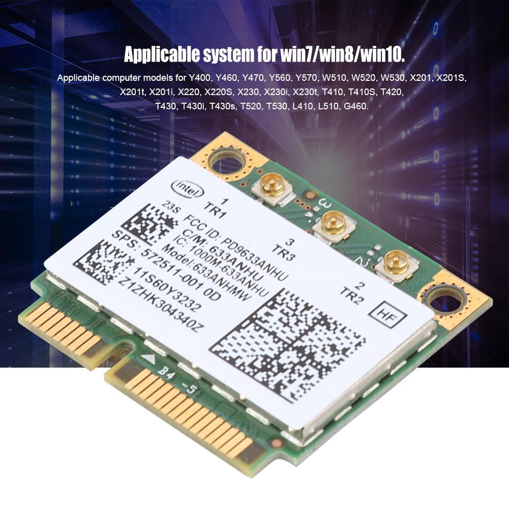 for Intel 6300AGN Network Card Wireless-N Wifi Card for Lenovo Thinkpad  T420i T420S