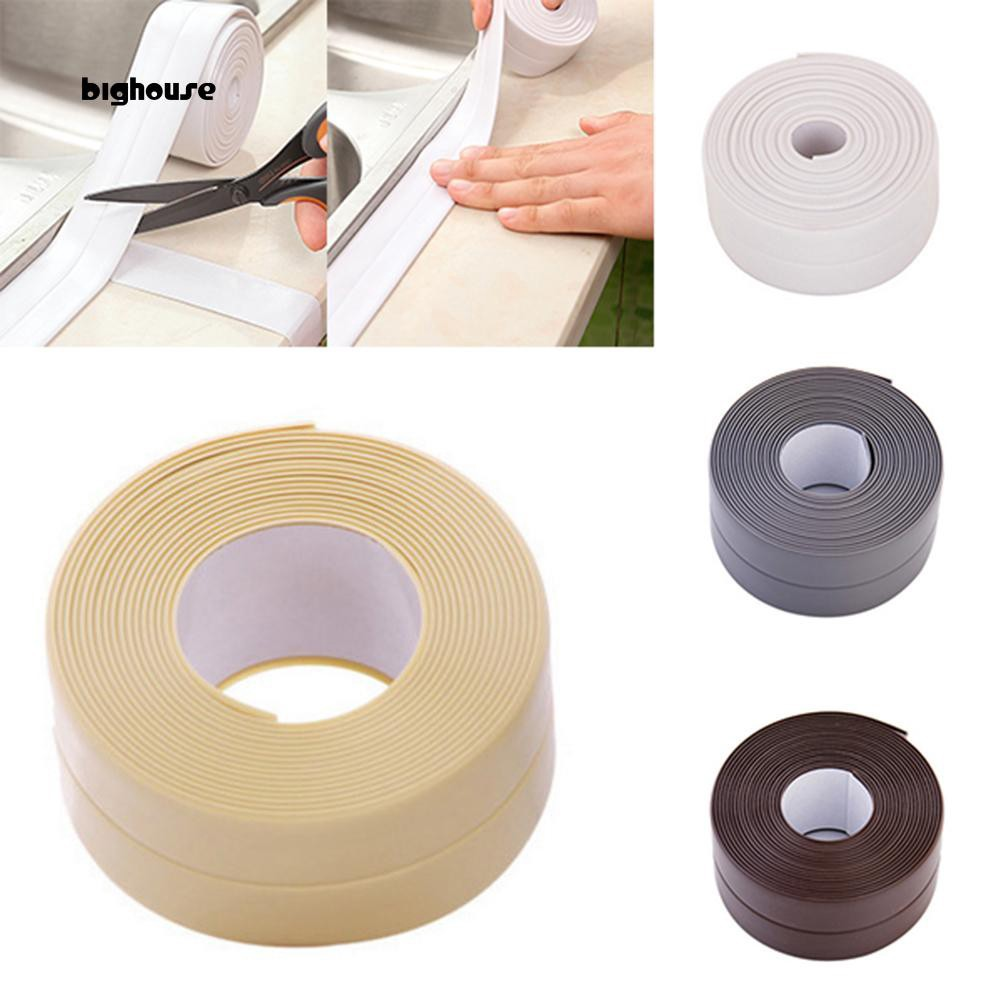 Brown Waterproof Mildew Tape Moisture Proof for Kitchen Sink Corner Sticker Toilet Gap Bathroom Shower Crack Corner Caulk Tape Caulking Sealant Tool