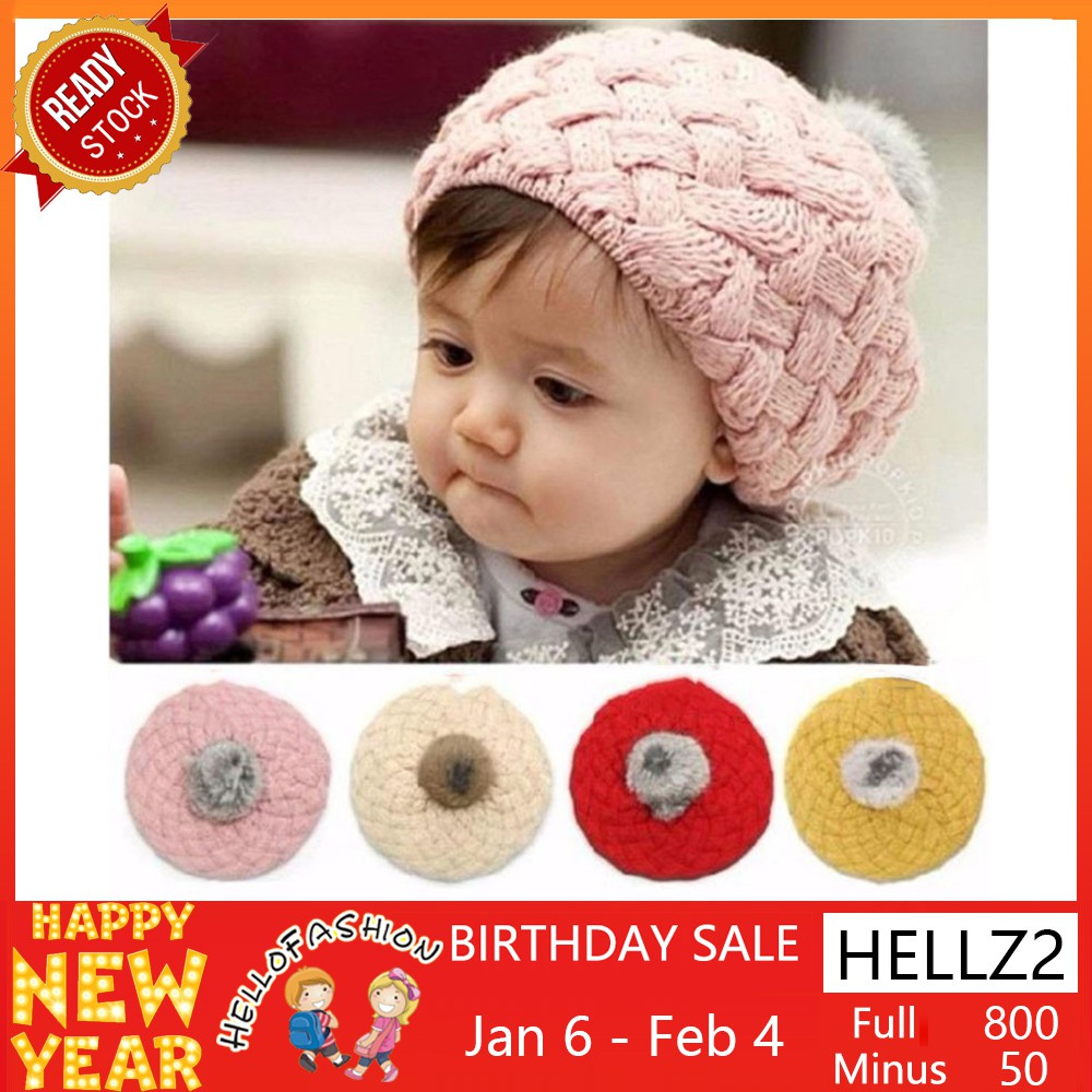 8be7fb0eeb57 Soft Winter Warm Beanie Cap Knitted Crochet Baby Hat