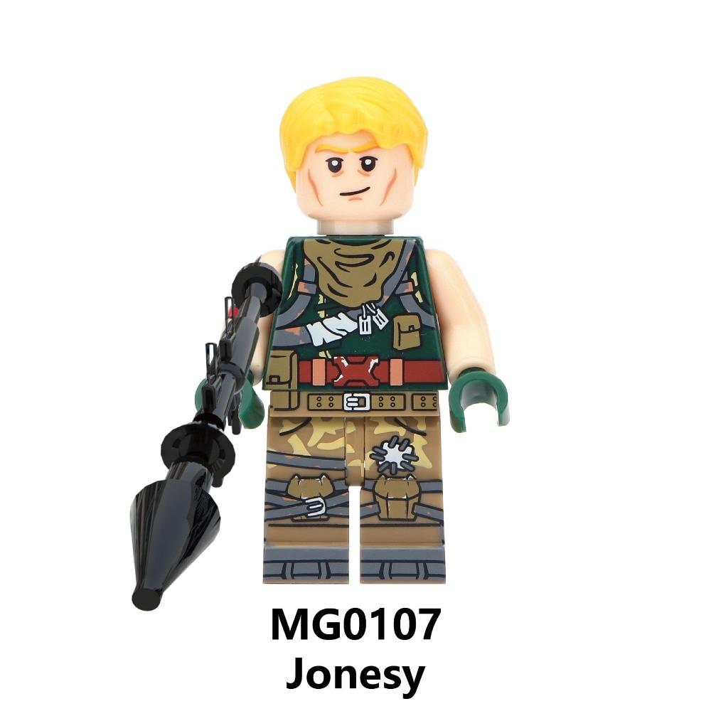 8Pcs Fortnite Minifigures Toy Skull Trooper Ninja Builder Explorer Blocks Toys