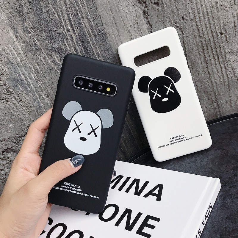 Tide Brand Kaws Violent Bear XX Soft Phone Case Samsung Galaxy S9 Note 8 9  S8 S10 Plus Couple Cover