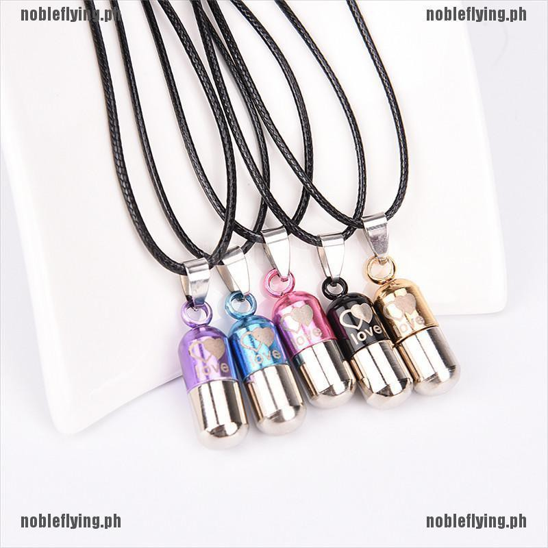 Metal Pill Cremation Pendant Ash Urn Necklace Holder Mini Keepsake Necklace Nice