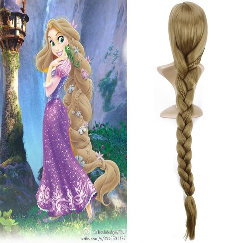 Disney Movie Tangled Rapunzel long blonde cosplay wavy wig 150cm Hot Cool