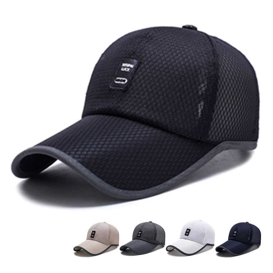 3f2faec939b63a Men's Baseball Badge Cap Outdoor Sun Hat Cotton Canvas Cap | Shopee  Philippines