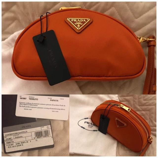 25dc2b673b90c7 Prada BN1903 Tessuto Nylon Top Handle Bag in Bleu 👜💕   Shopee Philippines
