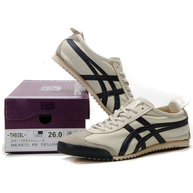 new arrivals 929be c3336 Authentic Onitsuka Tiger Deluxe Beige/ Dark Blue