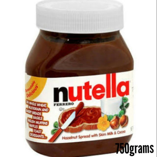 Authentic Nutella Spread 750 grams per Bottle