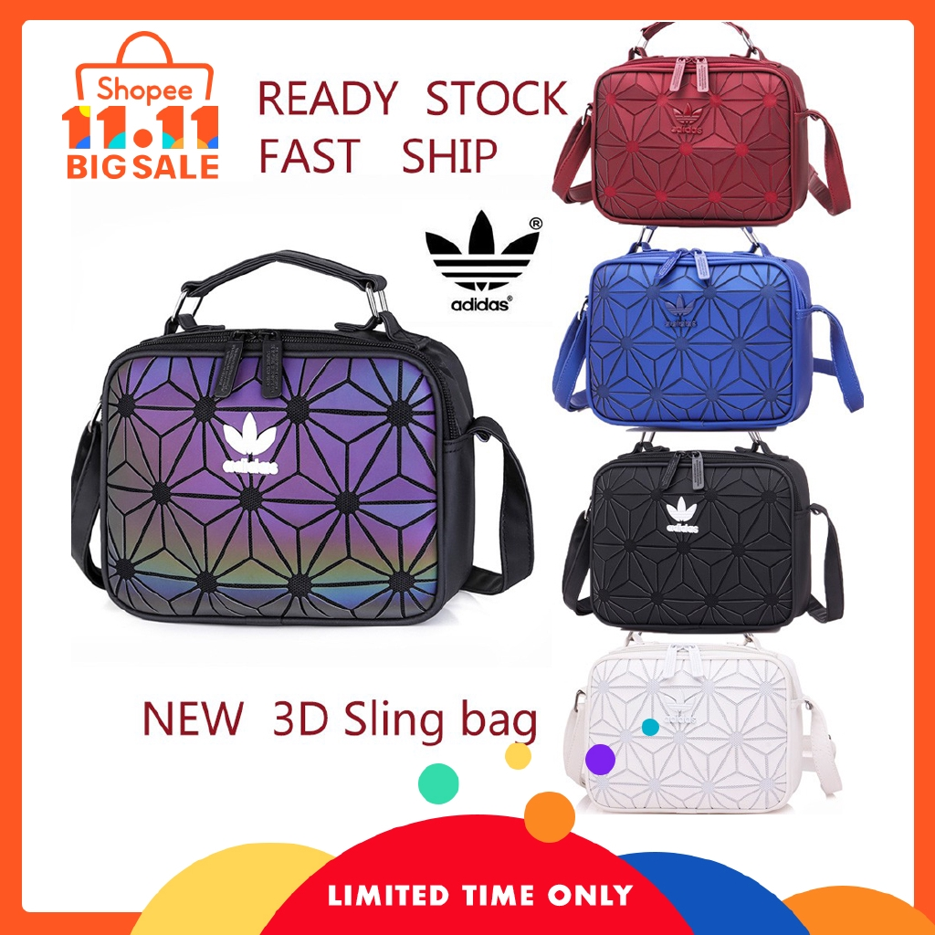 42c738c6bba2 Adidas Trefoil 3D ROLL TOP HOBO geometric Tote Slingbag