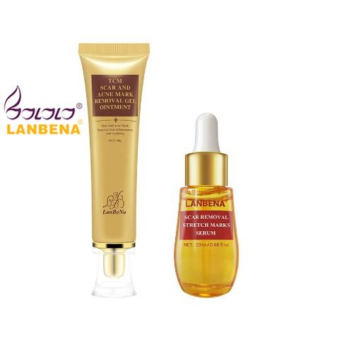 BUY 1 GET 1 LANBENA Scar Remove Serum+Acne Treatment Cream