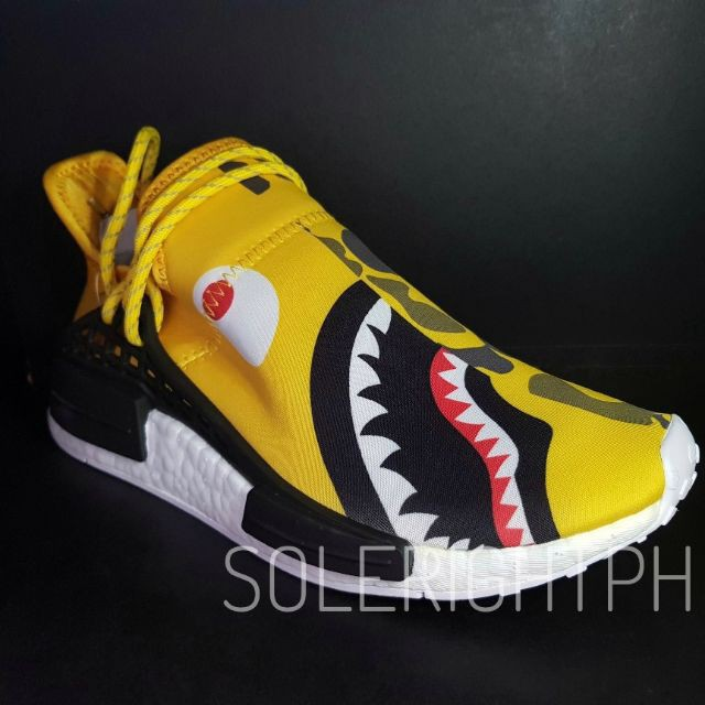 sports shoes 5b547 ba85c SLK Original ★ Pharrell Williams x Adidas NMD Human Race 'Camo Bape Yellow'