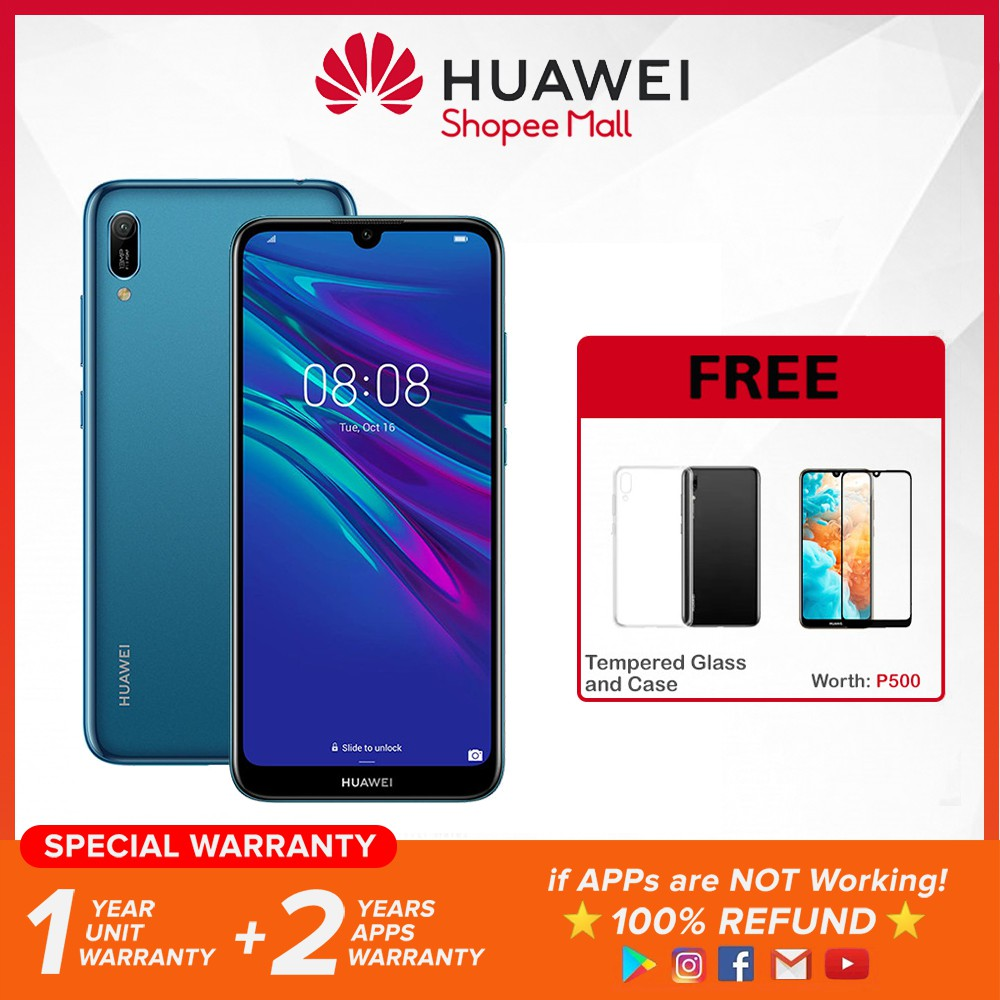 Huawei Y6 PRO 2019 3GB RAM | 32GB ROM With Free Tempered Glass and Case