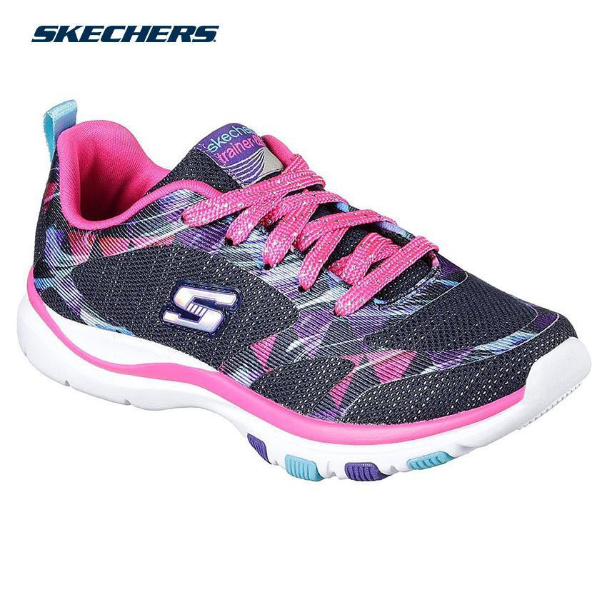 Legítimo petróleo crudo Objetivo  Skechers Kids Trainer Lite Girls Footwear Navy | Shopee Philippines