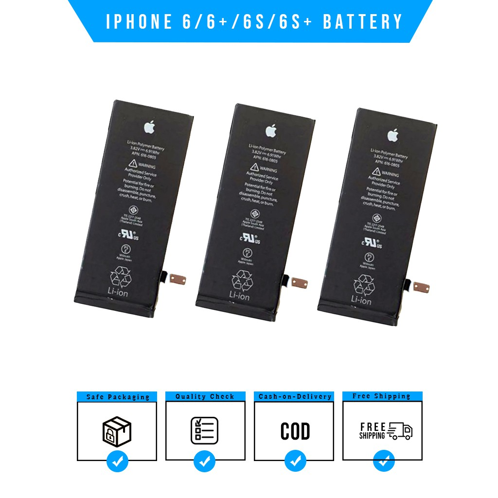 iPhone 6/ 6+/ 6S/ 6S+ Battery Replacement