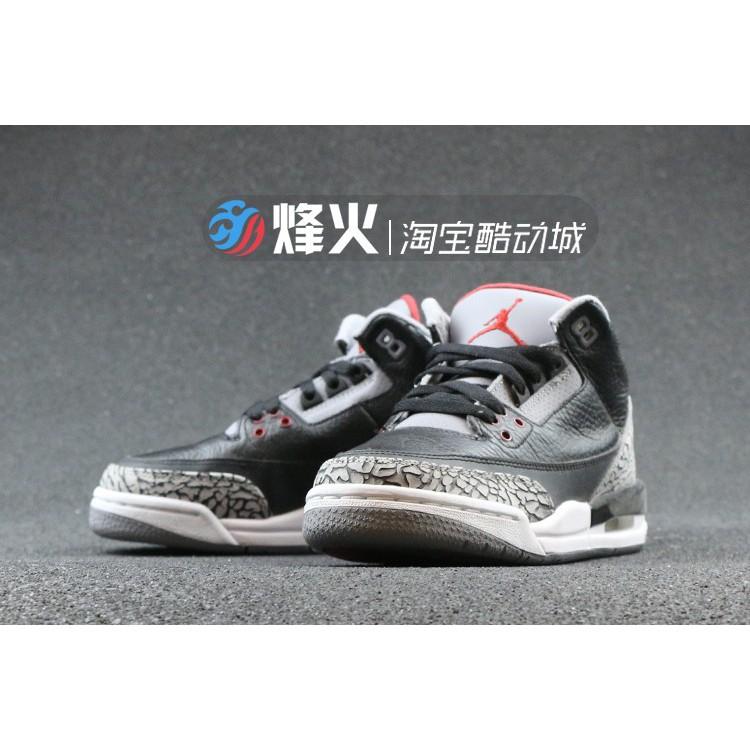 f6ad050be28 AIR Jordan 3 AJ3 Joe 3 Black Cement 08cdp Set solo 340254-06   Shopee  Philippines