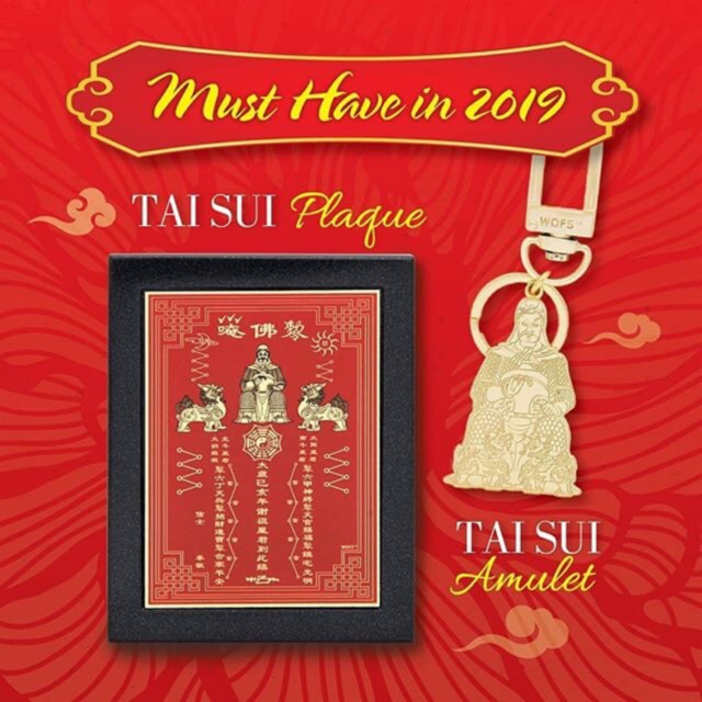 Sale! 2019 Taisui Plaque / Amulet Keychain / Card Must Have