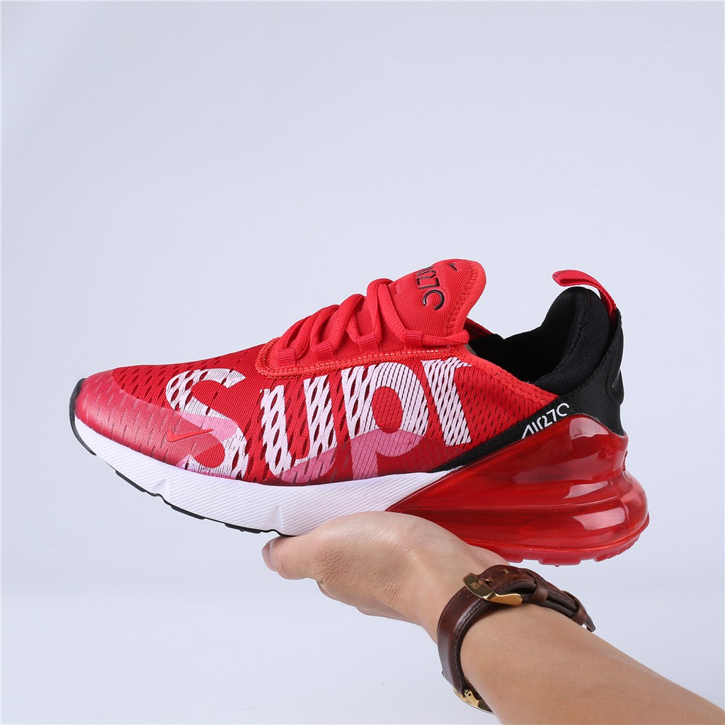 picked up pre order no sale tax Nike Air Max Flair 270 27C supreme Red White Running Shoes