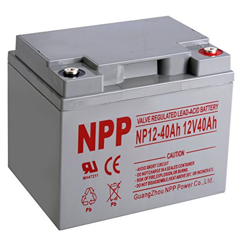 Genuine NPP 40AH Deep Cycle Solar / UPS / eBike Battery