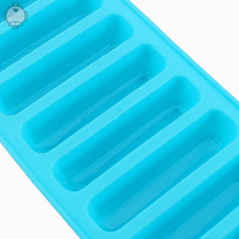 10 cell Chocolate Barette Finger Stick Water Bottle Ice Cube Silicone Mould