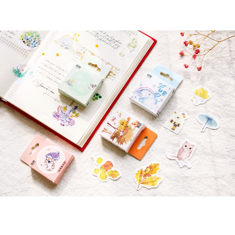 50pcs/box Sticker box - Give life a little spice series